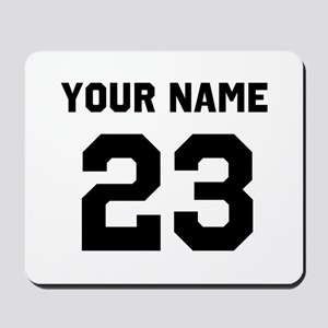 Customize sports jersey number Mousepad