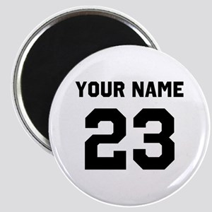 Customize sports jersey number Magnet