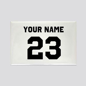 Customize sports jersey number Rectangle Magnet