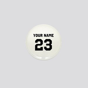 Customize sports jersey number Mini Button
