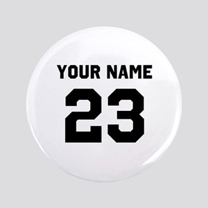 Customize sports jersey number Button