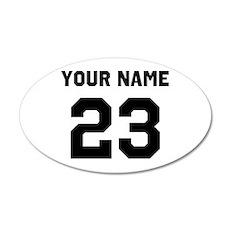 Customize sports jersey numb Wall Sticker