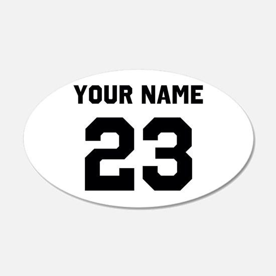 Customize sports jersey numb Decal Wall Sticker