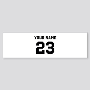 Customize sports jersey number Sticker (Bumper)