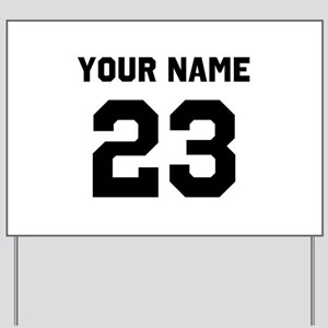 Customize sports jersey number Yard Sign