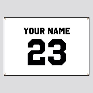 Customize sports jersey number Banner