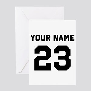 Customize sports jersey number Greeting Card