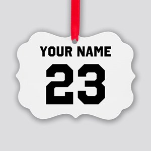 Customize sports jersey number Picture Ornament