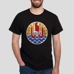 French Polynesia Coat Of Arms Dark T-Shirt
