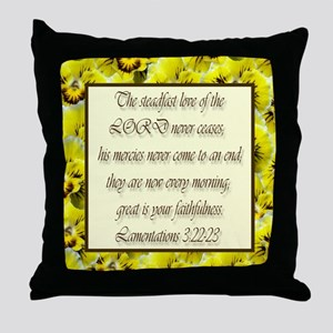 Steadfast Love of the Lord Throw Pillow