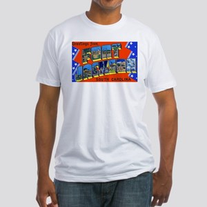 Fort Jackson South Carolina (Front) Fitted T-Shirt
