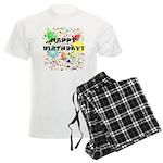 Happy Birthday Men's Light Pajamas
