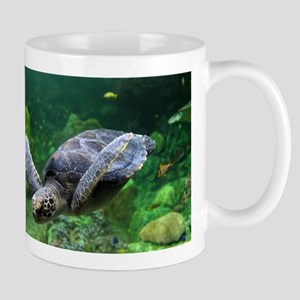Close up of a Green Sea Turtle Mug