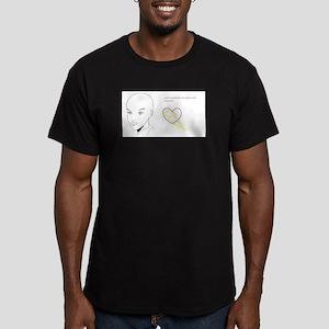 Raise Awareness Men's Fitted T-Shirt (dark)
