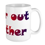 Far Out Father Large Mug