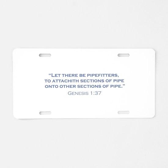 Pipefitters / Genesis Aluminum License Plate