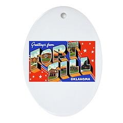 Fort Sill Oklahoma Oval Ornament