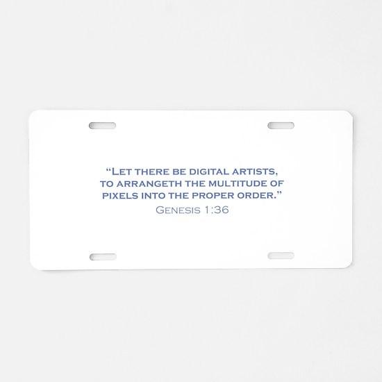 Digital Artists / Genesis Aluminum License Plate