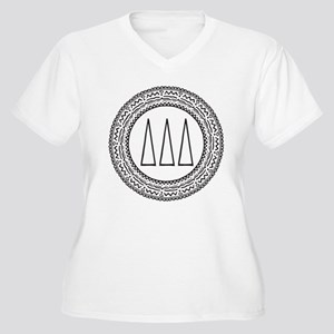 Delta Delta Delta Women's Plus Size V-Neck T-Shirt