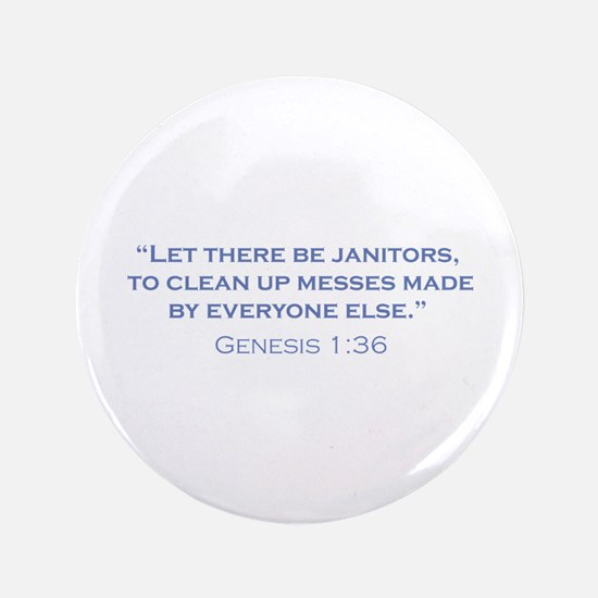 "Janitors / Genesis 3.5"" Button"