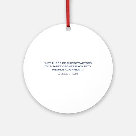Chiropractors / Genesis Ornament (Round)