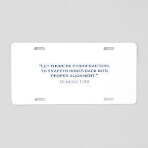 Chiropractors / Genesis Aluminum License Plate