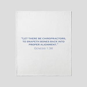 Chiropractors / Genesis Throw Blanket