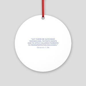 Auto Body Technicians / Genesis Ornament (Round)