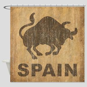 Vintage Spain Shower Curtain