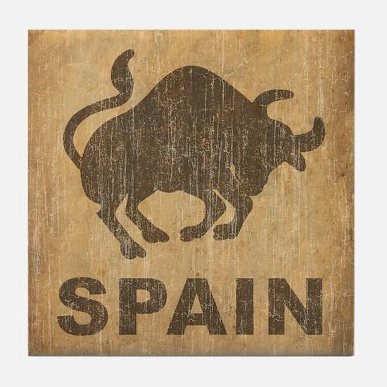 Vintage Spain Tile Coaster