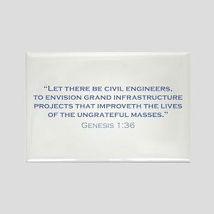 Civil Engineers / Genesis Rectangle Magnet