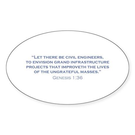 Civil Engineers / Genesis Sticker (Oval 50 pk)