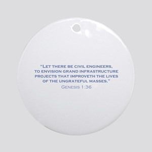 Civil Engineers / Genesis Ornament (Round)