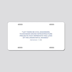Civil Engineers / Genesis Aluminum License Plate