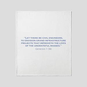 Civil Engineers / Genesis Throw Blanket