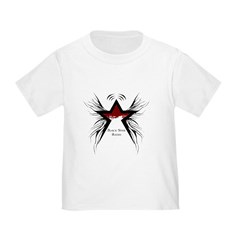 Black Star Logo White T