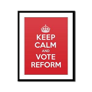 K C Vote Reform Framed Panel Print
