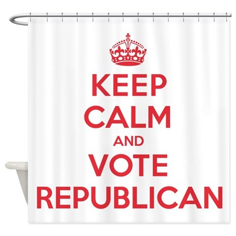 K C Vote Republican Shower Curtain