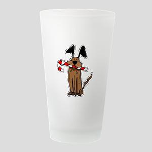 Dog CC MC dj Frosted Drinking Glass