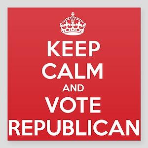 "K C Vote Republican Square Car Magnet 3"" x 3"""