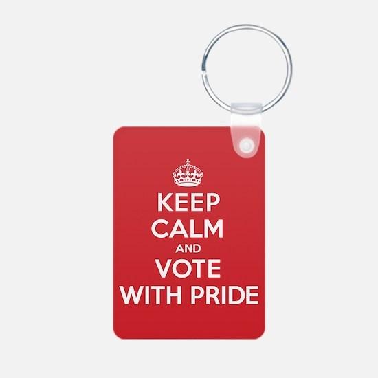 K C Vote Pride Keychains