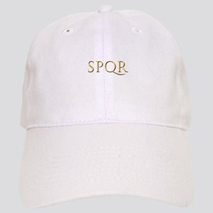 Gold Latin SPQR Cap