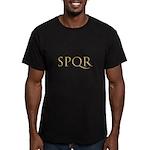 Gold Latin SPQR Men's Fitted T-Shirt (dark)