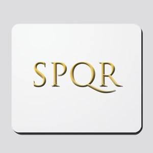 Gold Latin SPQR Mousepad