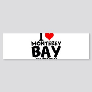 I Love Monterey Bay, California Bumper Sticker