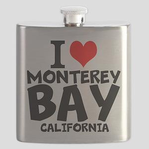 I Love Monterey Bay, California Flask