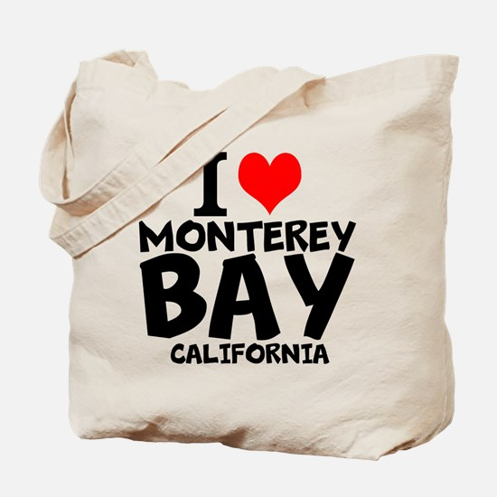 I Love Monterey Bay, California Tote Bag