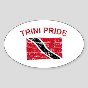 Trini Pride Sticker (Oval)