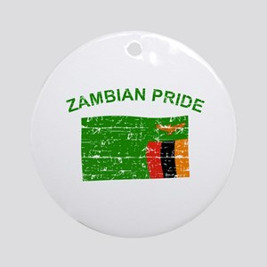 Zambian Pride Ornament (Round)