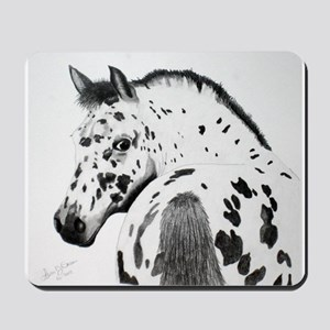 Leopard Appaloosa Colt pencil drawing Mousepad
